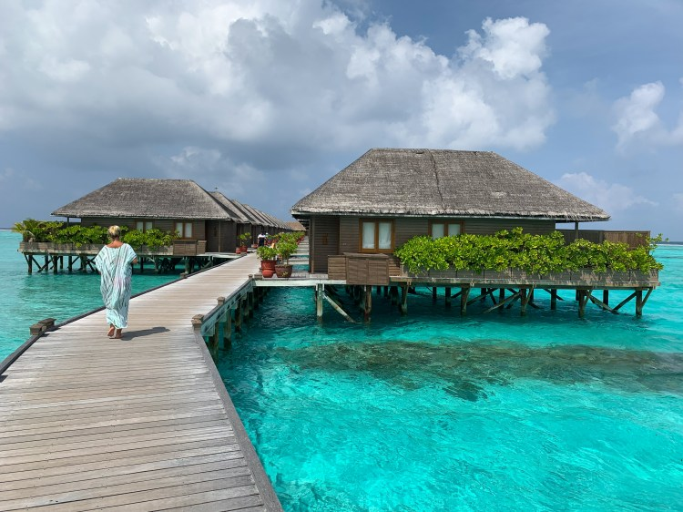 Above water cabanas in Maldives