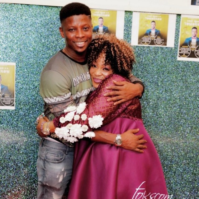 Rotimi Salami and mother