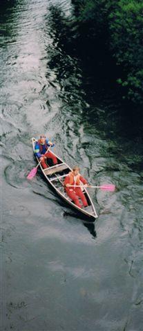 Samen met Michael het canoe traject in Duitsland op de stuwmeren