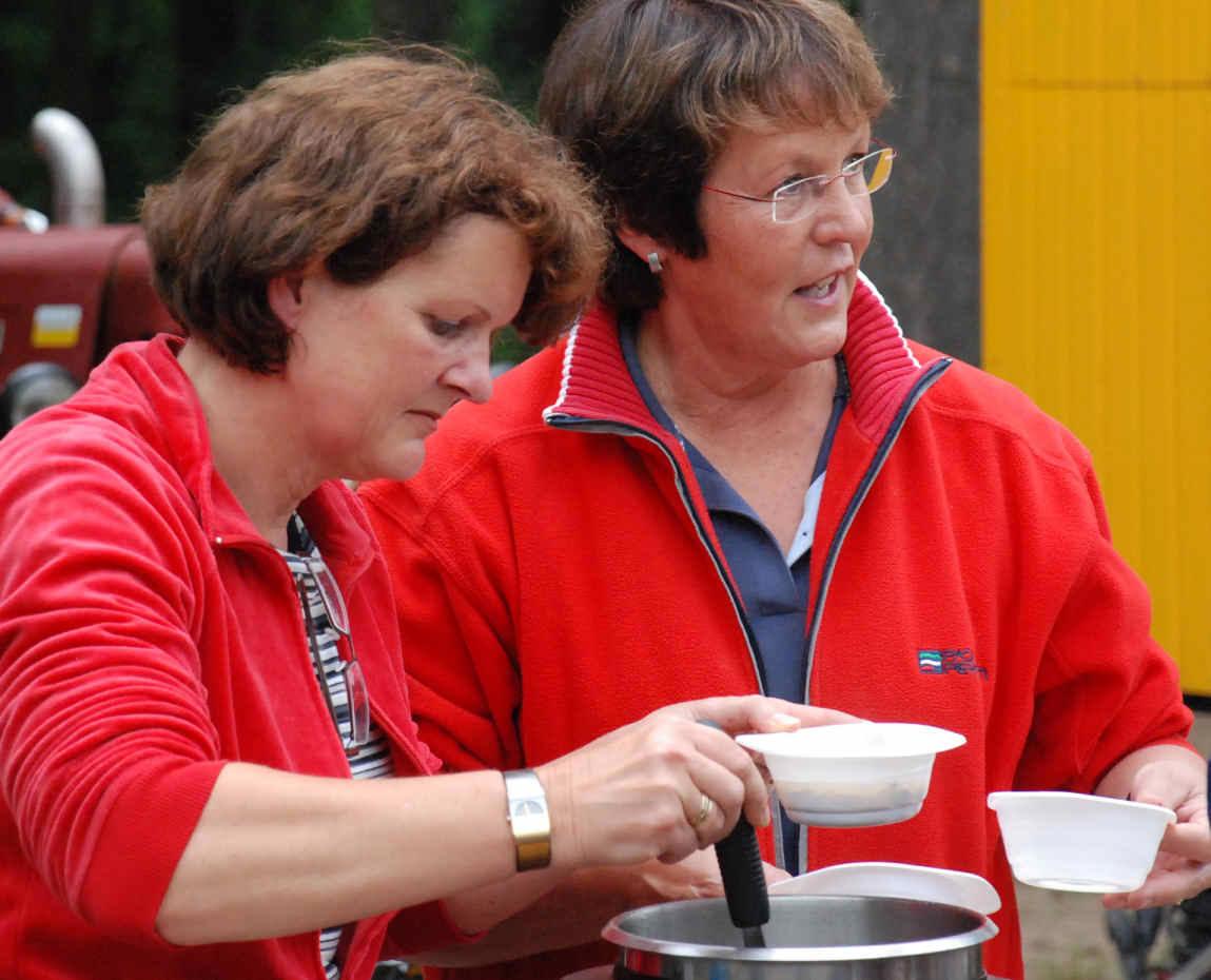 Riny & Joke hebben de soep klaar.