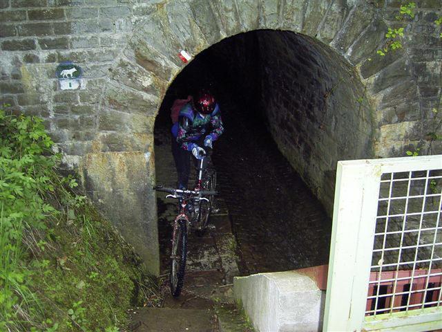Ina uit de tunnel.