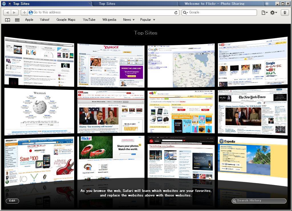 Safari 4 Beta on Windows Vista