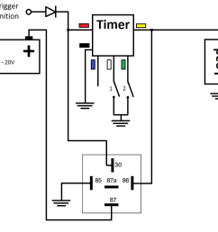 time off delay self latching circuit with zero current consumption during off state timer is set to function 12 and trigger 2  [ 1210 x 896 Pixel ]