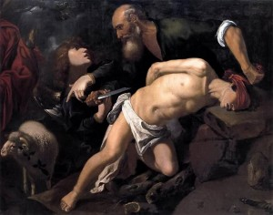 Abraham and Isaac, a favorite theme for painters