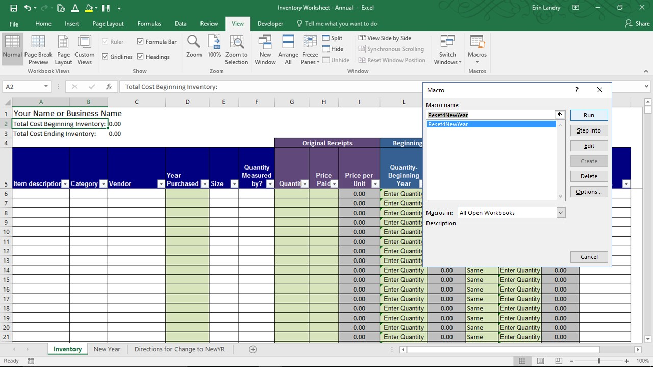 The products and organizations that are listed in the references have not been evaluated by mmc. End Of Year Inventory Template Calculate Beginning And Ending Inventory Excel Worksheet