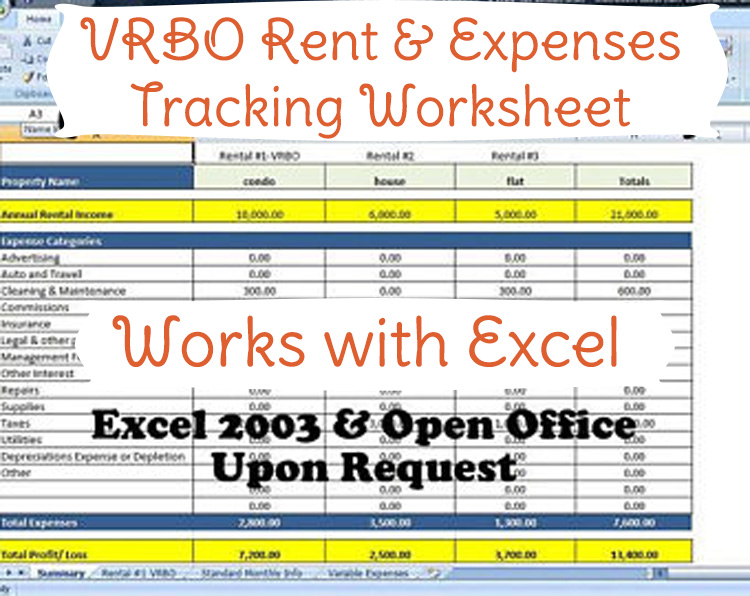 excel template for expenses