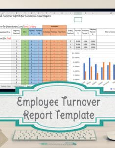 Employee turnover chart template also archives rh timesavingtemplates