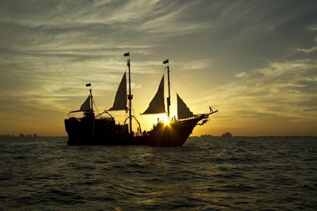 Jolly Roger pirate ship Cancun