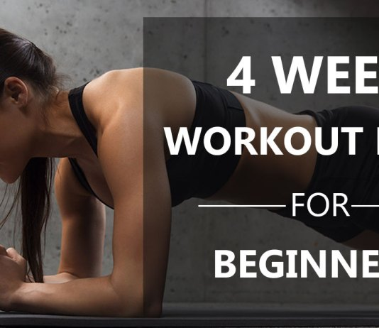 4 Week Workout Plan for Beginners at Home