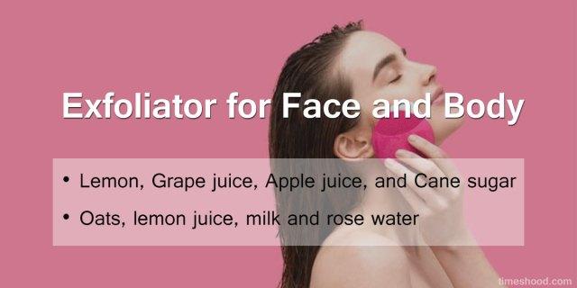 Exfoliator for face and body - 8 DIY Skincare before bath