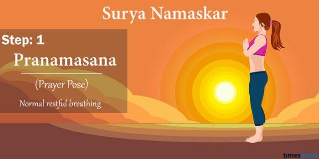 Pranamasana (Prayer pose) - Surya Namaskar Step By Step Guide