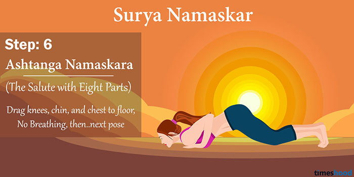 Ashtanga Namaskara (The Salute with Eight Parts) - Surya Namaskar Yoga Step by step guide