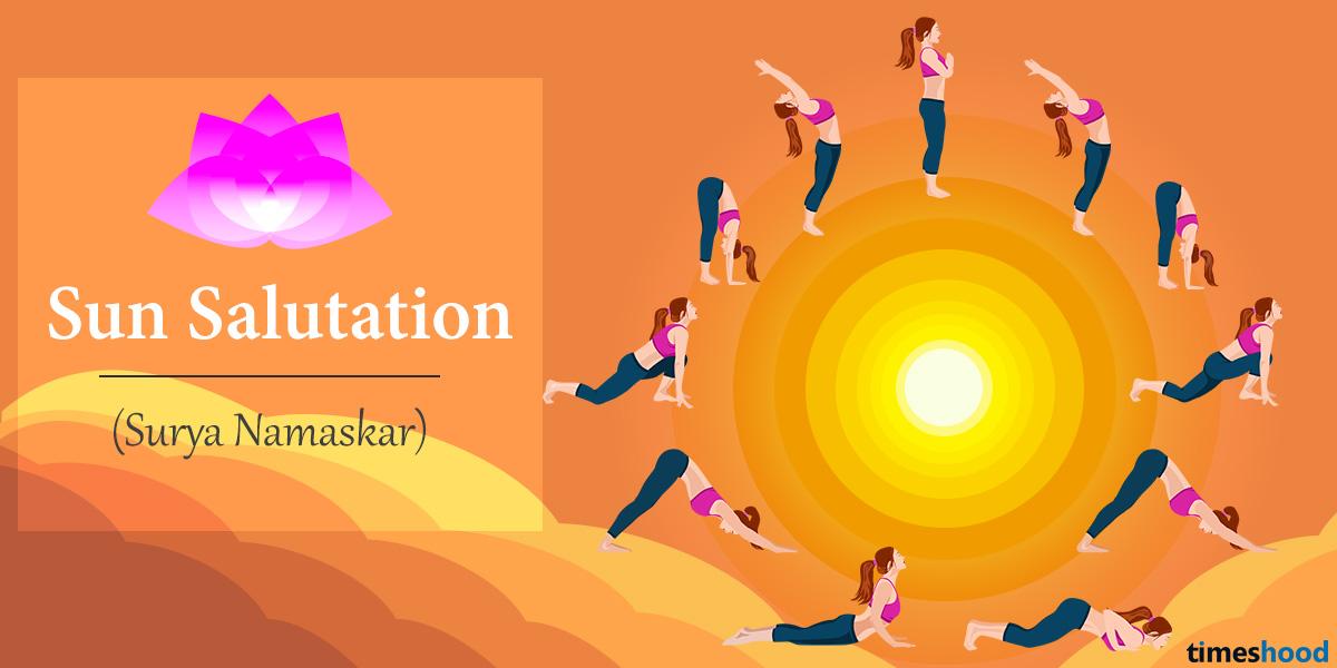 Surya Namaskar Or Sun Salutation Yoga Pose Step By Guide With Benefits
