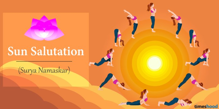 Surya Namaskar or Sun Salutation Yoga Pose Step by step guide with benefits