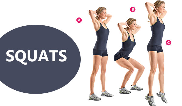 Squats Fat Burning Evening Workout. 10 Effective Workout for Weight Loss