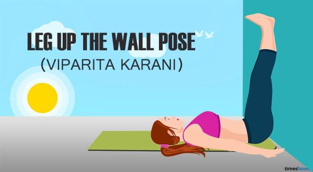 Viparita Karani: Leg up the wall pose