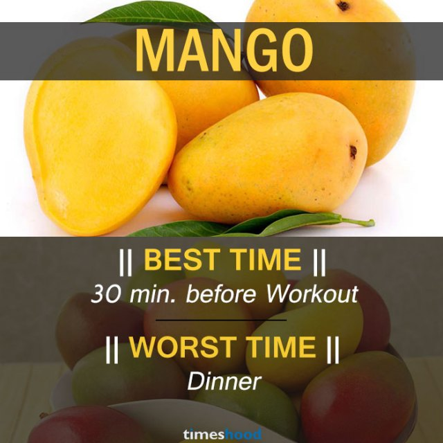 When to eat mango | Best and Worst time to eat mango and some common fruits | Right time to eat fruits | Best time to Eat Fruits in a day | via Timeshood.com