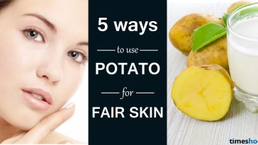 5 Ways to use potato for fair skin | Get fair skin | Tips to get fair skin