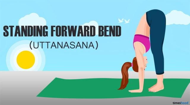 Uttanasana: Standing forward bend