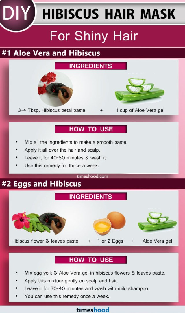 Hibiscus Hair Mask for Shiny Hair. How to use Aloe Vera for hair growth. DIY Hibiscus hair mask to prevent hair loss. How to use hibiscus for hair. How to get rid of dry hair. Tips to get rid of dandruff fast. DIY Remedy for smooth hair and split ends. | Timeshood.com