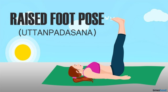 Raised Foot Pose for Belly Fat. Yoga for belly fat beginners.