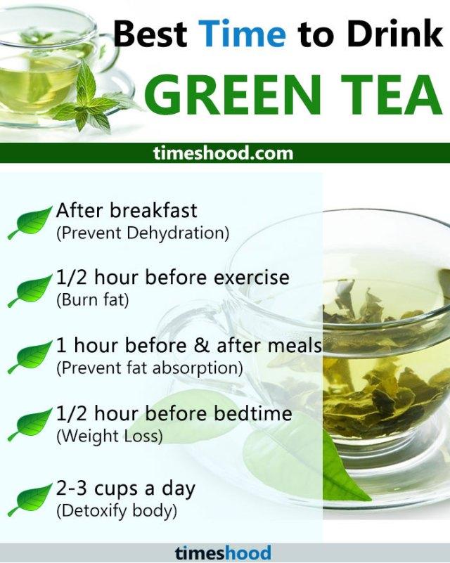 Green tea drinking time
