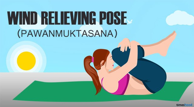 Wind Relieving Pose for belly fat loss. Yoga for tummy loss
