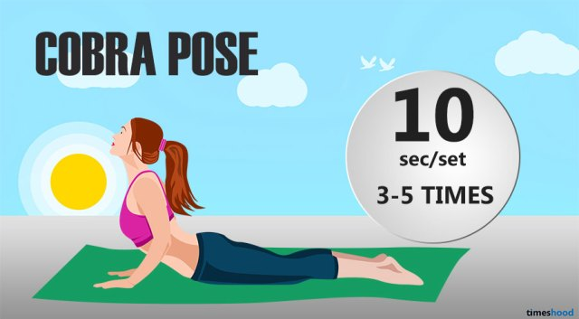 Cobra yoga pose to improve flexibility for beginners, Try cobra pose for flat tummy and flexible back and stomach. Yoga for flexibility.