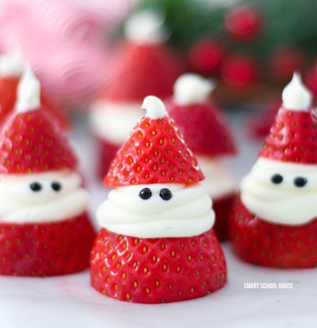 Strawberry Santa Recipes for Christmas. Try easy recipes for your kids on this Christmas. Christmas Santa's recipes for kids. Get more 15 Christmas cookies on timeshood.com
