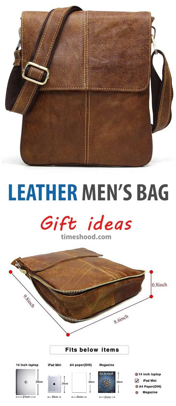 Cross-body Satchel Messenger Bag Small. Gift items for men. Gift ideas for Christmas, thanksgiving gift ideas.