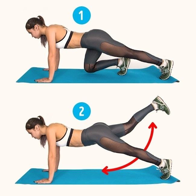 6 exercices pour se débarrasser de la cellulite. Défi de 2 semaines pour réduire la cellulite. Obtenez des fesses minces et sexy et des cuisses toniques avec ce plan d'entraînement. Entraînement pour tonifier les muscles de vos fesses et de vos cuisses. Défi de corps de bikini.