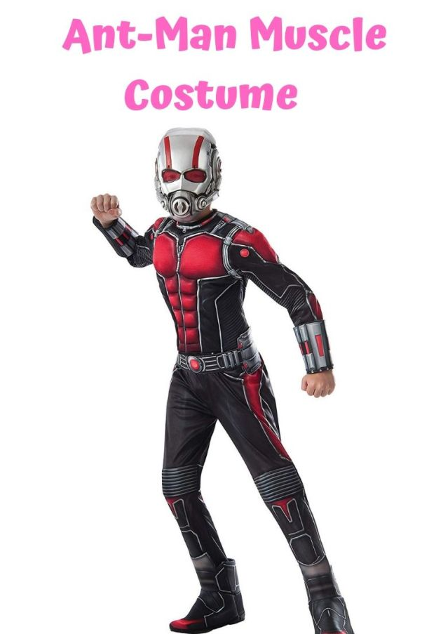 Ant-Man muscle chest costume ideas for kids on Halloween. Find 10 more Avengers Halloween costume ideas for your little one.