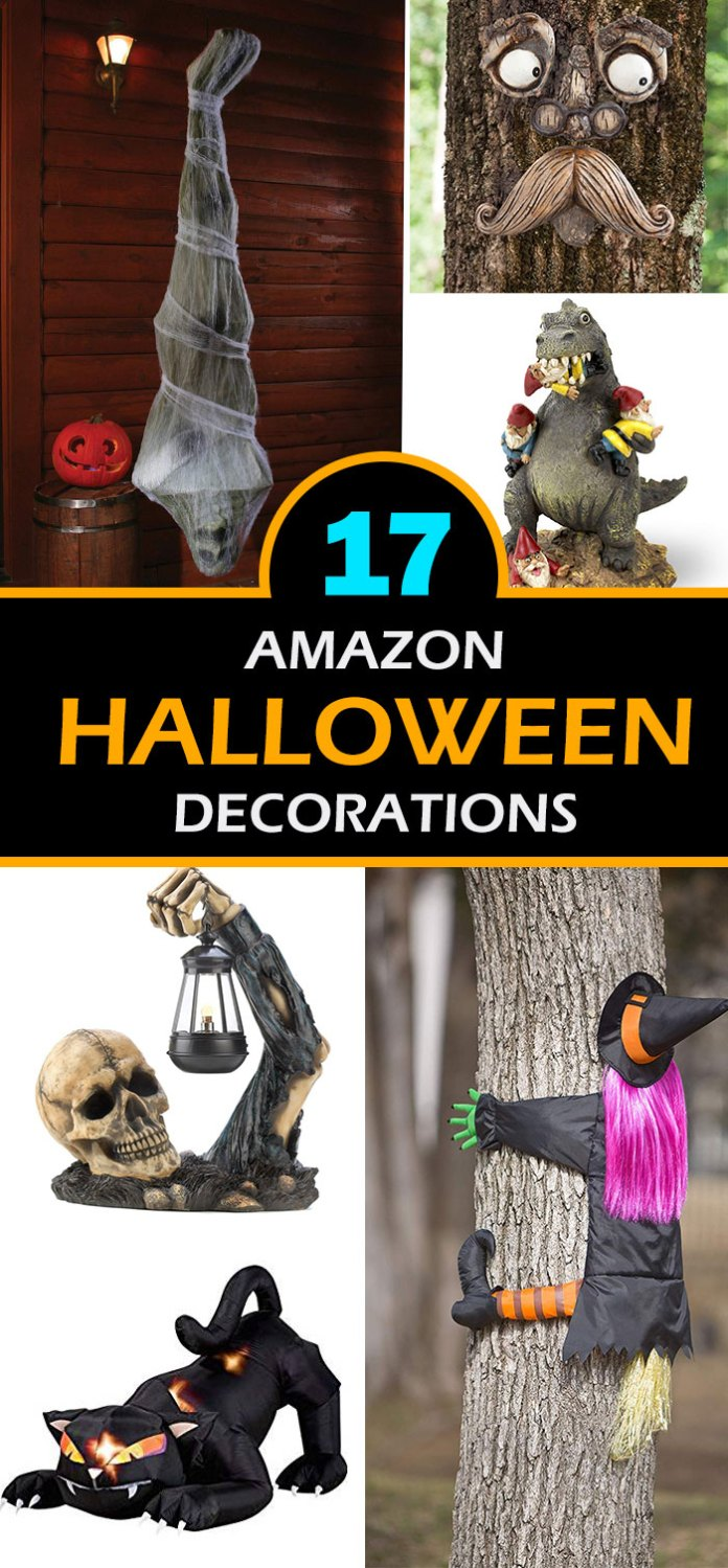 Get ready to give a spooky look to your home with this best reviewed amazon Halloween decorations ideas. From black creepy cloth spider, old man tree sculpture, flashing eyes Halloween light, hilarious lawn gnome Godzilla, to creeping skeleton garden light, spook your guests.