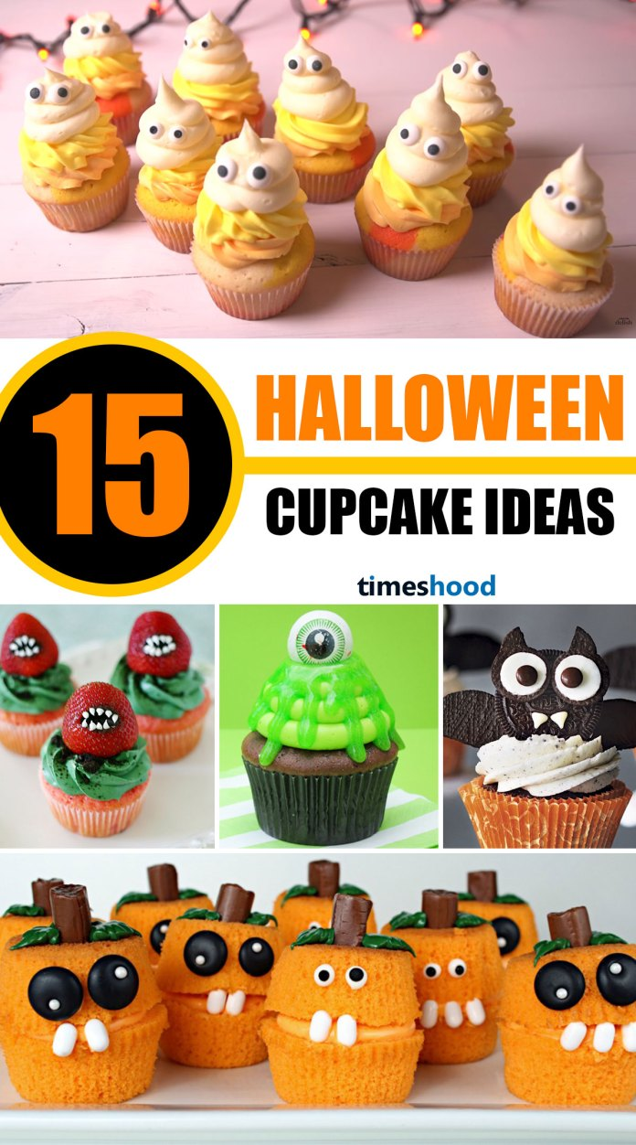 15 Amazing Halloween Cupcake Ideas. A Perfect & Adorable Cupcakes for any Halloween themed occasion! Easy, Fun, and Spooky Halloween cupcakes recipes. Amazing Halloween Cupcake Recipes Ideas.