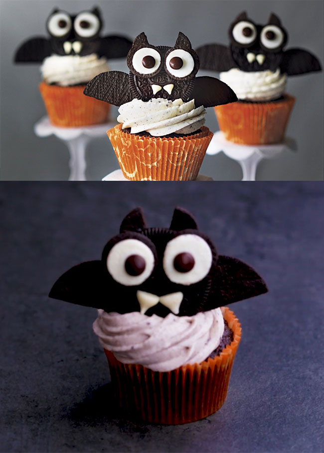 Haunted Cupcakes - Easy, fun, and spooky Halloween cupcakes. Amazing Halloween Cupcake Recipes Ideas.