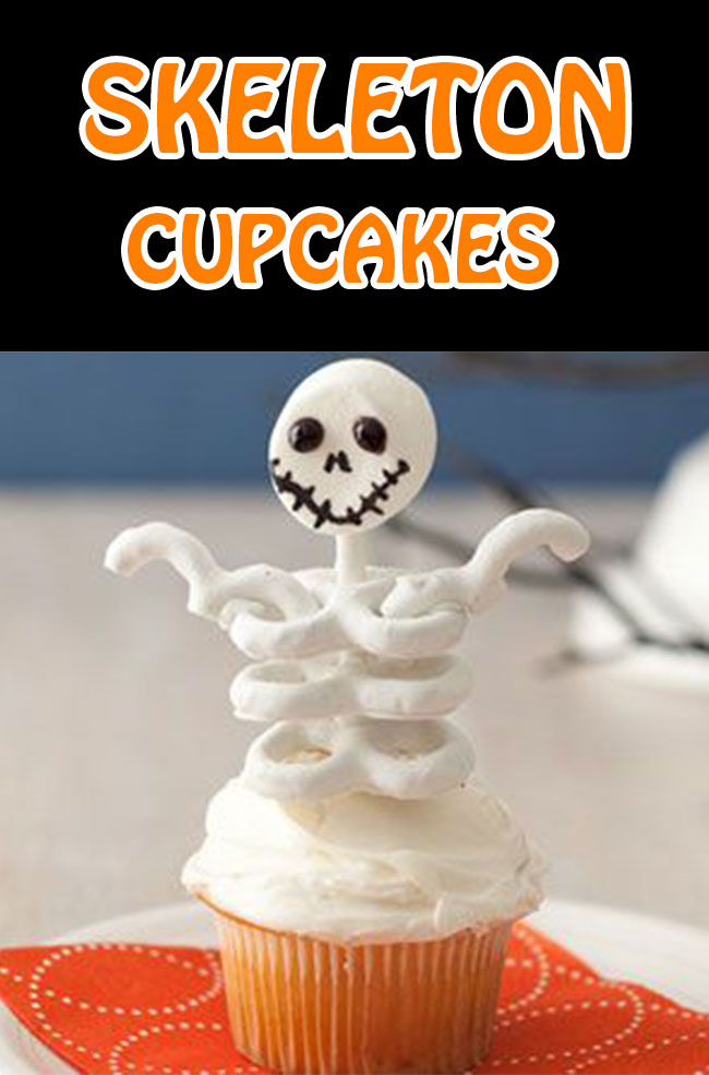 Skeleton Cupcakes a perfect adorable Cupcakes for any Halloween themed occasion! Easy, fun, and spooky Halloween cupcakes recipes.