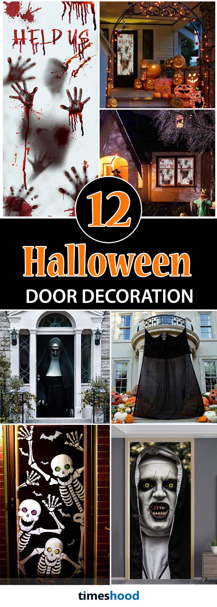 Dress up your front porch into the Halloween spirit with these fun and spooky Halloween decorations to welcome your guests. Get 12 more low budget creative Halloween Front door Decorations ideas from Amazon.