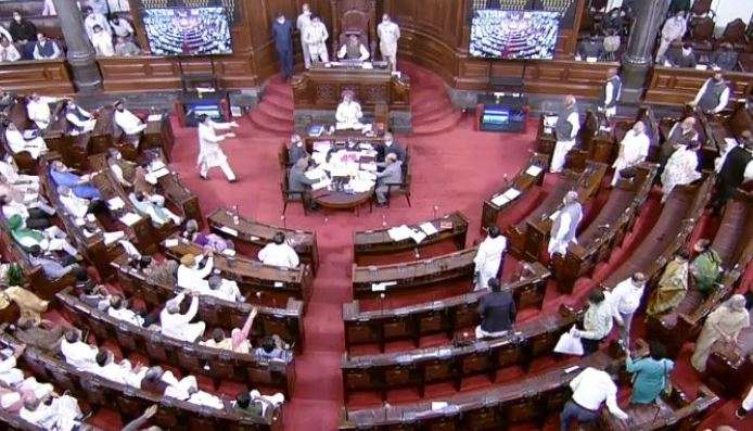 Rajya sabha passes GNCTD bill, LG Delhi govt abilities, resistance walkout parliament