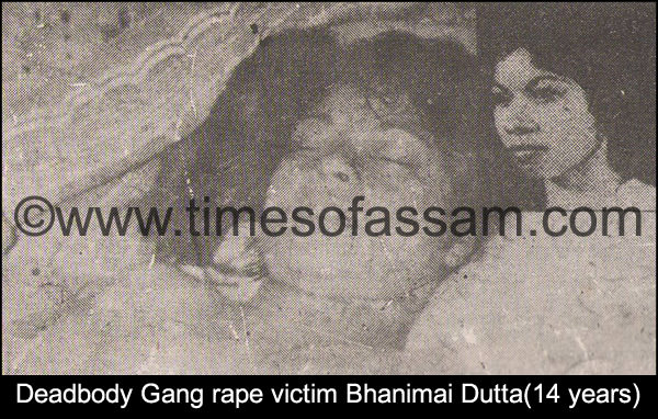Bhanimai Dutta gang raped & killed by Indian Army