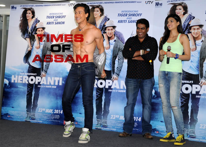 Tiger Shroff and Kriti Sanon promote their upcoming film Heropanti