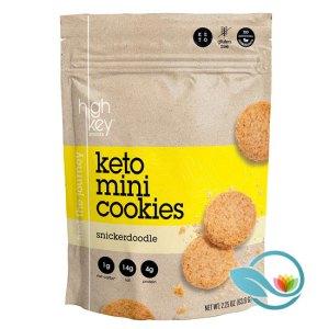 HighKey Snacks Keto Mini Cookies, Snickerdoodle or Chocolate Chip