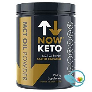 Now Keto MCT Oil Powder, Salted Caramel