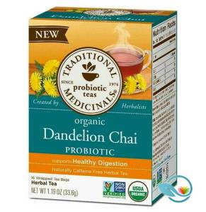 Traditional Medicinals Dandelion Chai Probiotic