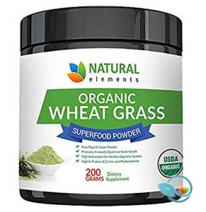 Natural Elements Organic Wheat Grass Superfood Powder