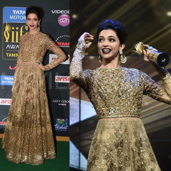 Deepika Padukone decks up in a Sabyasachi anarkali