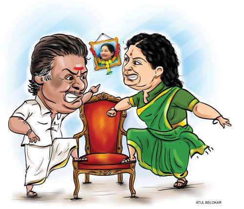 Image result for Sasikala cartoons