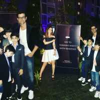 Hrithik Roshan and sons join Sussanne Khan at store launch