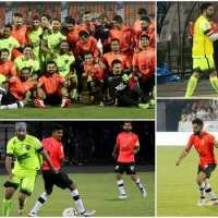 Ranbir, Virat, Abhishek and Dhoni play football