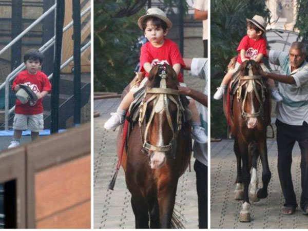 Taimur Ali Khan Enjoys Horse-riding Mp3