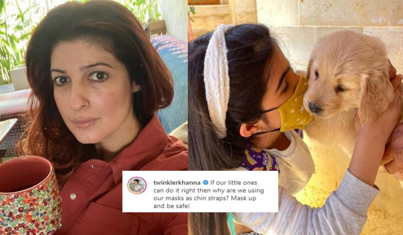 Twinkle Khanna drops an adorable picture of daughter Nitara kissing a puppy, urges people to wear mask correctly | Hindi Movie News – Bollywood – Times of India